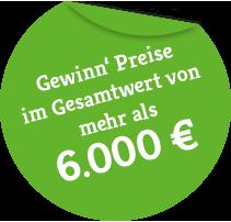 Gewinn' Preise im Gesamtwert von 1.000 €